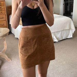 Free People Suede Mini Skirt